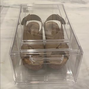 THE CONTAINER STORE 4 Stackable Clear Shoe Drawer